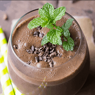 Dark Chocolate Peppermint Shake - Simple Chocolate Protein Shake Recipes