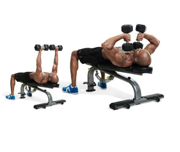 Dumbbell Squeeze Press for a powerful looking and well-sculpted upper body