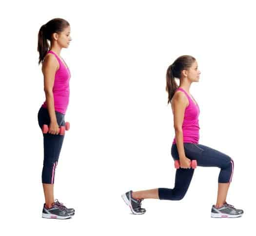 Forward Lunges -13 Best Workouts to Lose Thigh Fat
