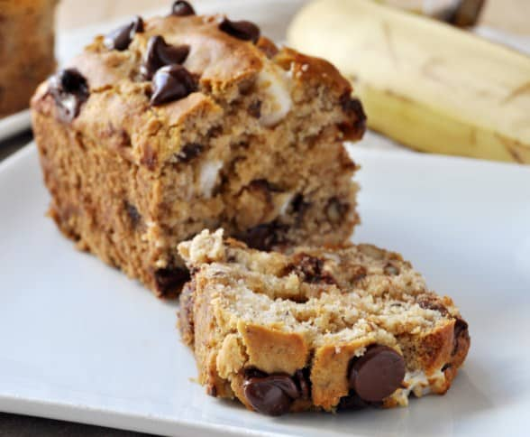 Gluten-Free Chocolate Chip Banana Bread - Easy To Make Vegan Recipes For Dessert