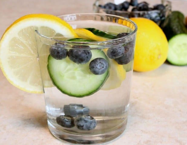 Lemon Water with Cucumber and Blueberry- Lemon water for weight loss