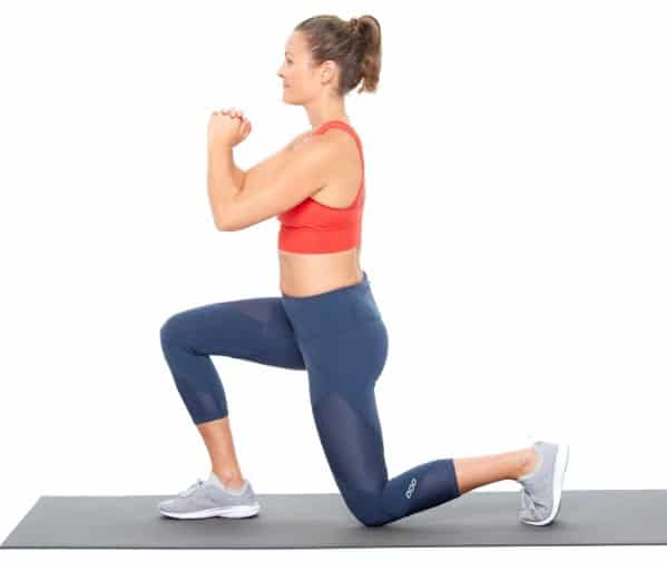 Lunges to burn stubborn belly fat