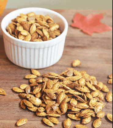 Roasted Pumpkin Seeds- 8 Healthy Halloween Recipes that you'll love