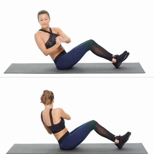 Russian Twist-8 Simple Exercises to lose lower belly fat