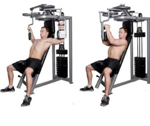Seated Machine Chest Press for building your upper body