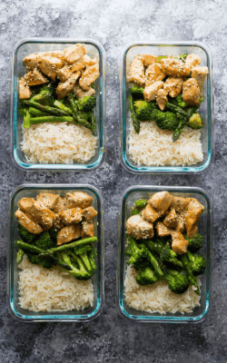 Sesame Chicken Lunch Bowls- 8 Healthy Meal Prep Ideas
