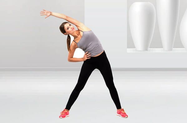 Side to Side Bend for burning fat around the waistline