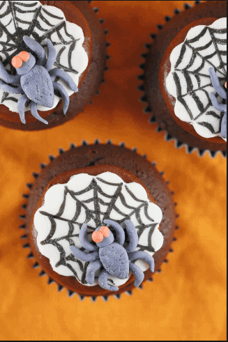SpiderWeb Cupcakes- 8 Amazing Halloween Recipes That Are Actually Healthy