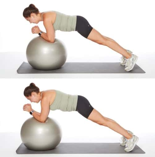 Stability Ball Rollout-Boot Camp Core Workout