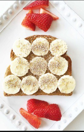 Sun Butter, Banana, and Chia Seed Toast