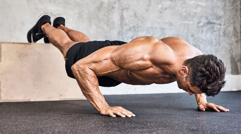 Suspended Push-Ups for gaining muscle and strength