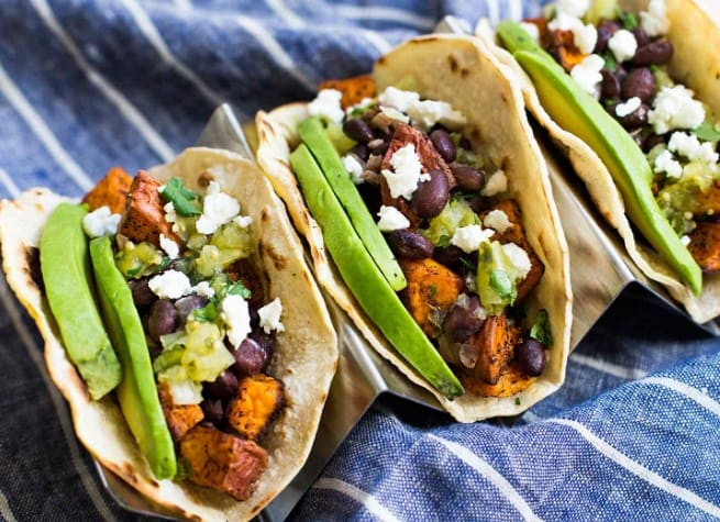 Sweet Potato And Black Bean Tacos- Easy To Make Vegan Recipes For Lunch