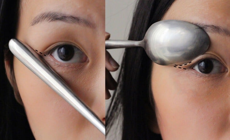 Use A Spoon To Draw Perfect Winged Eyeliner