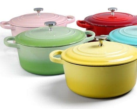Colorful Cast Iron Cookware- Gift Ideas for Foodies/ Cooking Enthusiasts