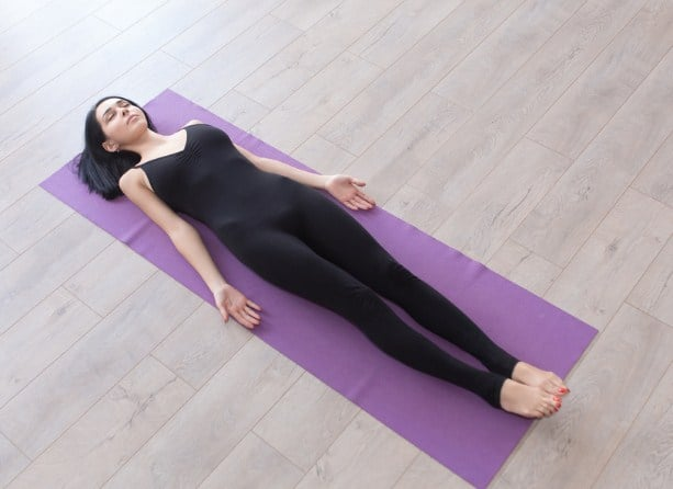 Corpse Pose very relaxing and satisfying work very well for quick result