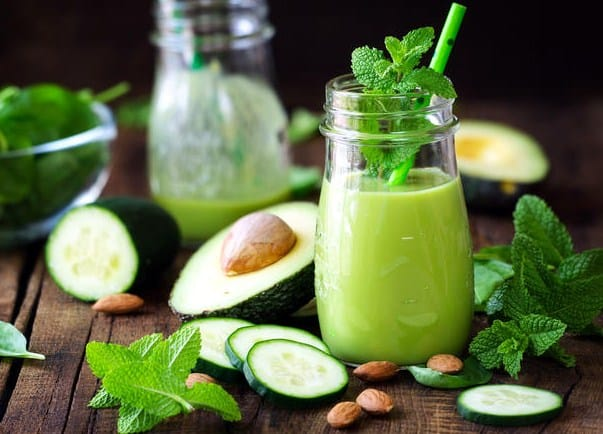 Cucumber, avocado & flax seeds drink - Best Detox Drinks For Weight loss & Flat Belly