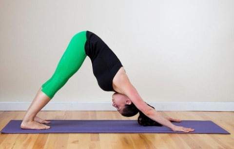 Downward Facing Dog Yoga Pose to lose weight in 10 days