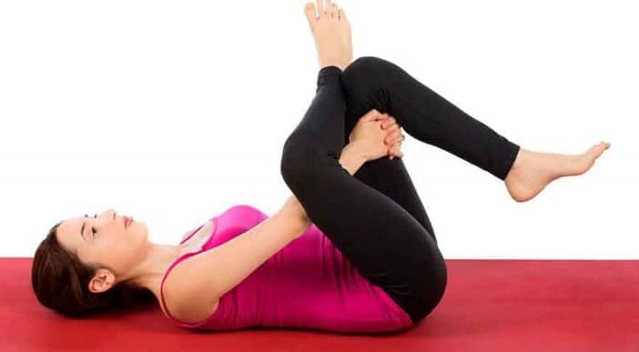 Eye of the Needle Pose- Yoga Poses for Sciatica Pain Relief