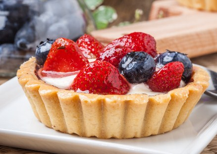 Fresh Berry Tarts With Cream- Best low Carbohydrate Dessert that will satisfy your sweet tooth