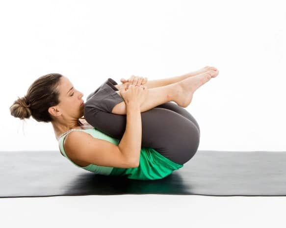 Knees to Chest effective Yoga Pose quick Back Pain Relief