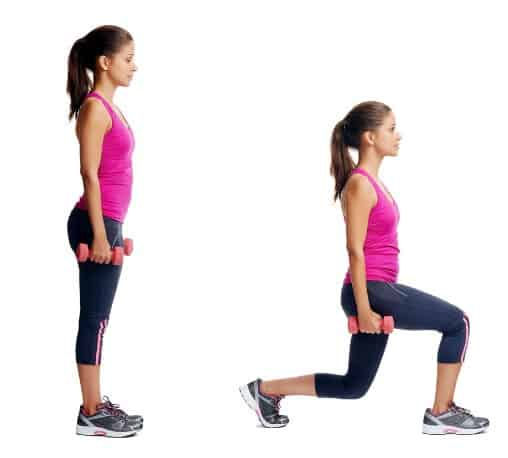 Lunges to lose 5 pounds in a Week