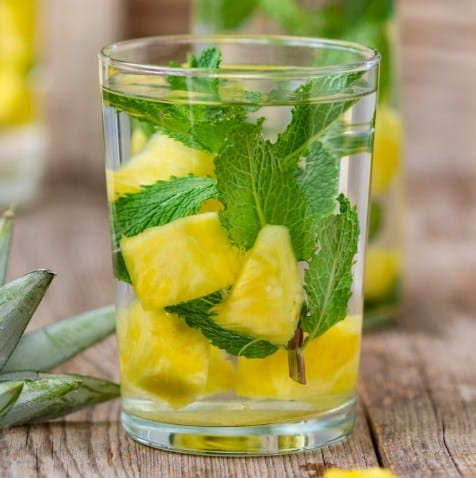 Pineapple, Mint and Ginger Water- Pineapple for Weight Loss