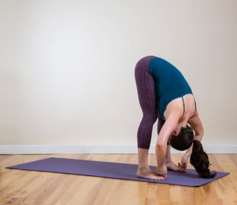 Standing Forward Bend Pose-Effective Yoga Poses for Neck and Back Pain Relief