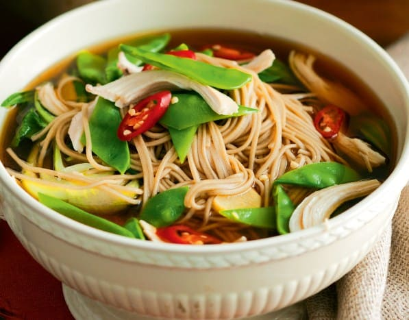 Asian Soba Noodle Soup For Shedding Pounds