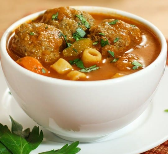 Italian Meatball Soup for losing weight