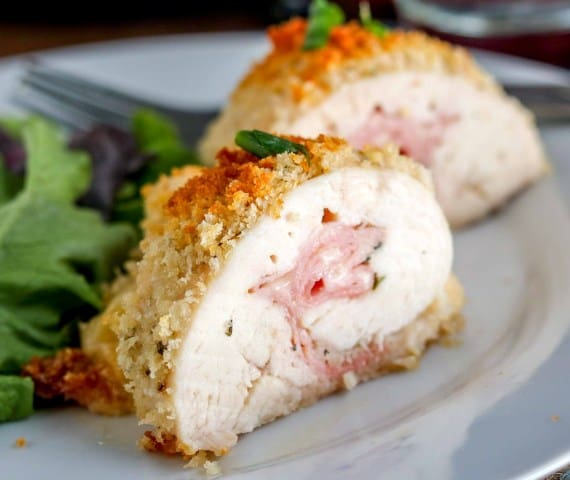 Oven-Baked Chicken Cordon Bleu - Low Carb meals