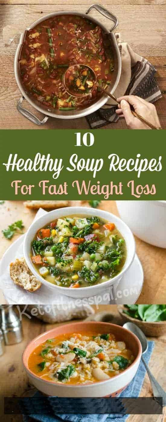 Soups, especially low-calorie veggie soups are the best options forweightloss. Soups are low in carb and calories, making them a perfect addition to your weightloss menu plan. Read on to discover 10 healthyrecipes soups for fast weightloss.